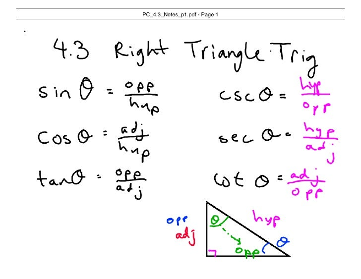 Pc 4.3 Notes Using Trig