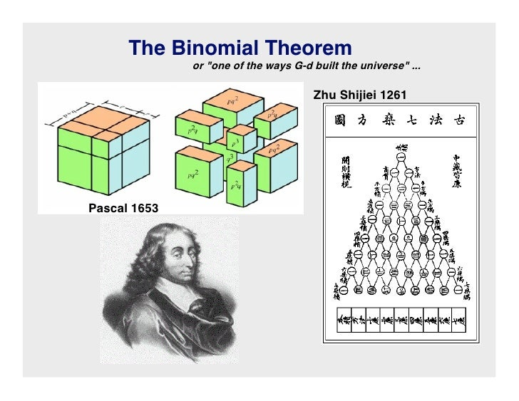 The Binomial Theorem               or one of the ways G-d built the universe ...                                        Zh...