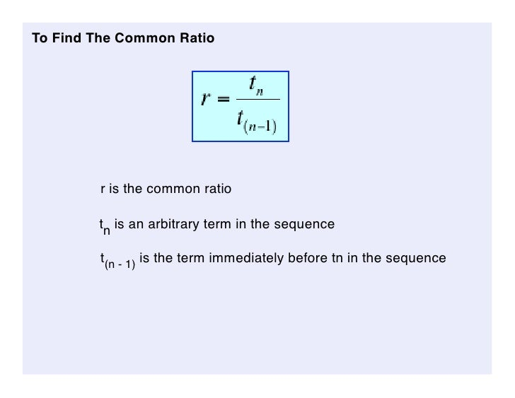 how to write an equation for the nth term of a geometric sequence