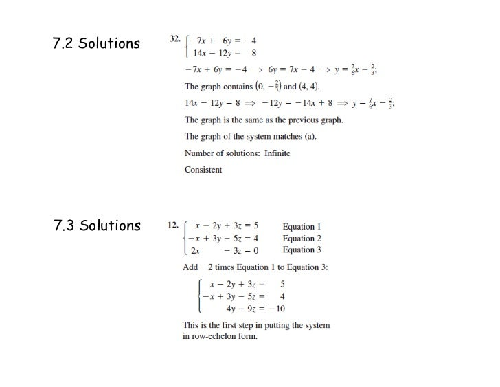 7.2 Solutions7.3 Solutions