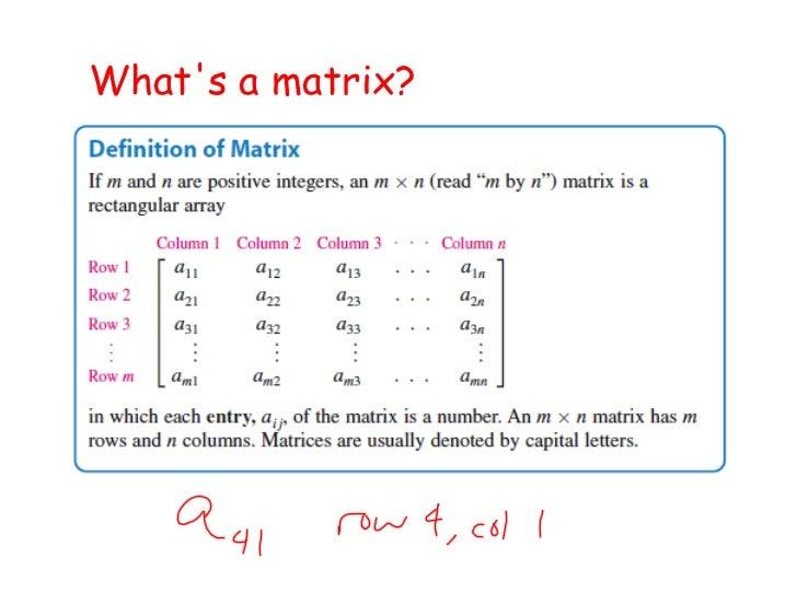 Whats a matrix?