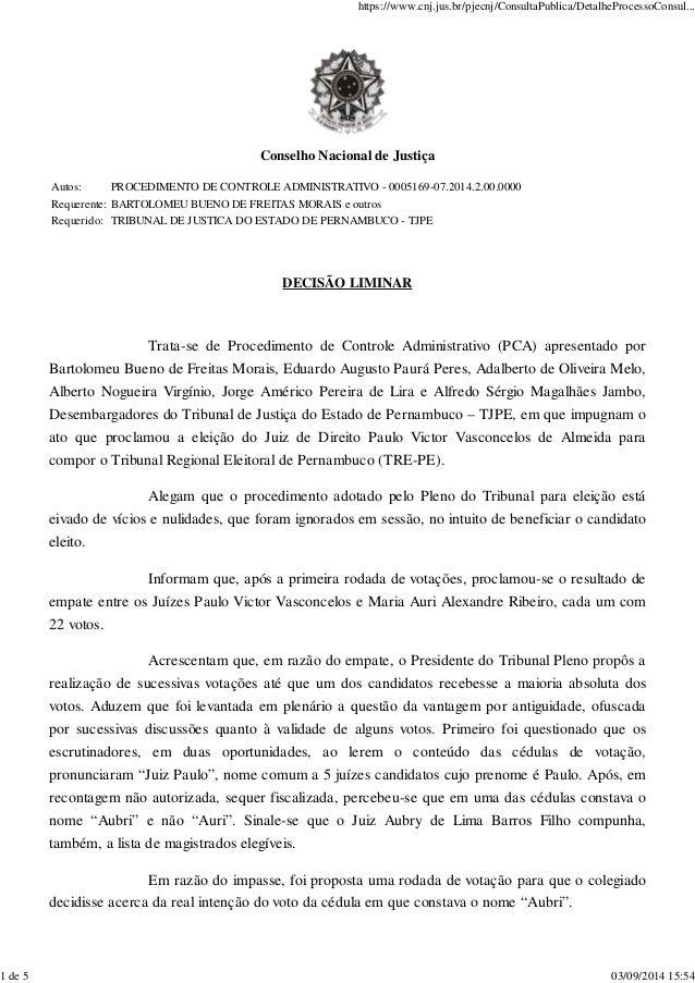 https://www.cnj.jus.br/pjecnj/ConsultaPublica/DetalheProcessoConsul...  Conselho Nacional de Justiça  Autos: PROCEDIMENTO ...