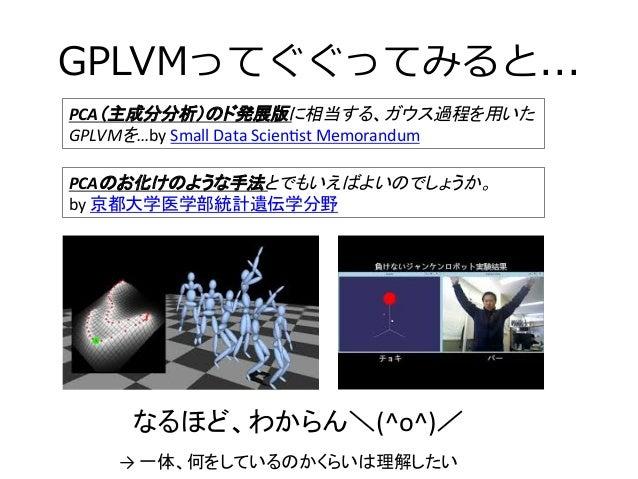 PCAの最終形態GPLVMの解説 Slide 3