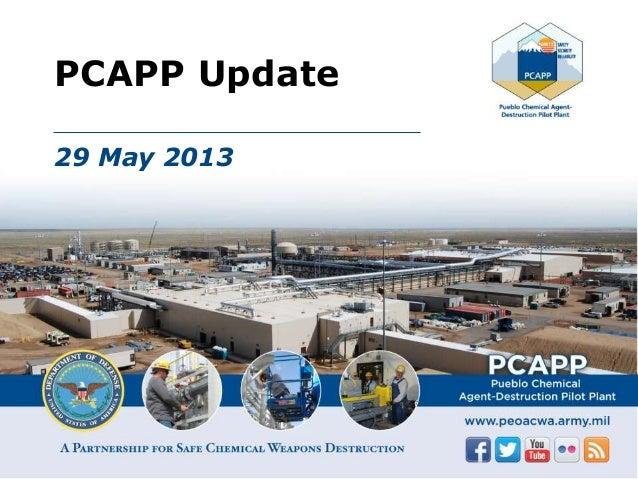 PCAPP Update 29 May 2013