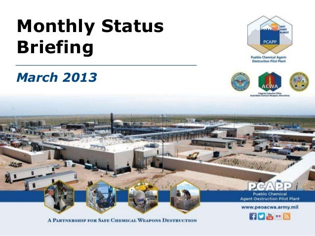 Monthly StatusBriefingMarch 2013