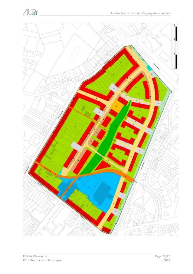 Architectes, Urbanistes, Paysagistes associés  PCA de Waremme Page 21/22  RIE – Résumé Non Technique 2013