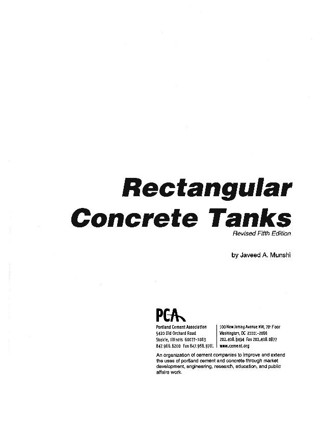 pca rectangular concrete tanks 1 rh slideshare net PCA Rectangular Tank Design Manual pca rectangular concrete tank design manual