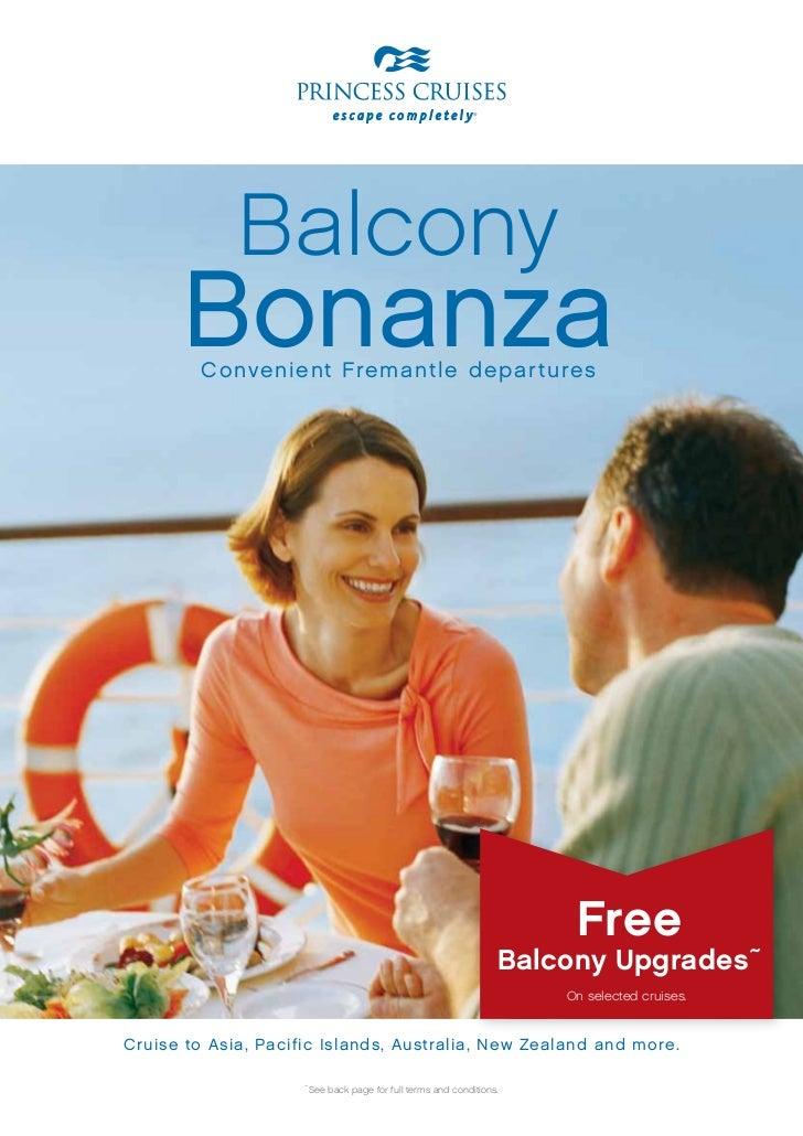 Balcony      Bonanza         C onvenient Fremantle depar tures                                                            ...