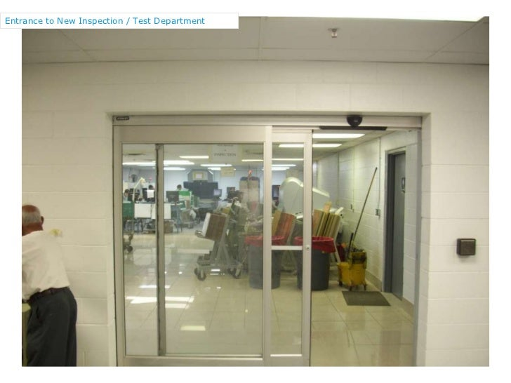 Entrance to New Inspection / Test Department