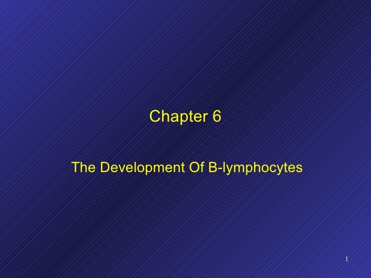 Chapter 6 The Development Of B-lymphocytes