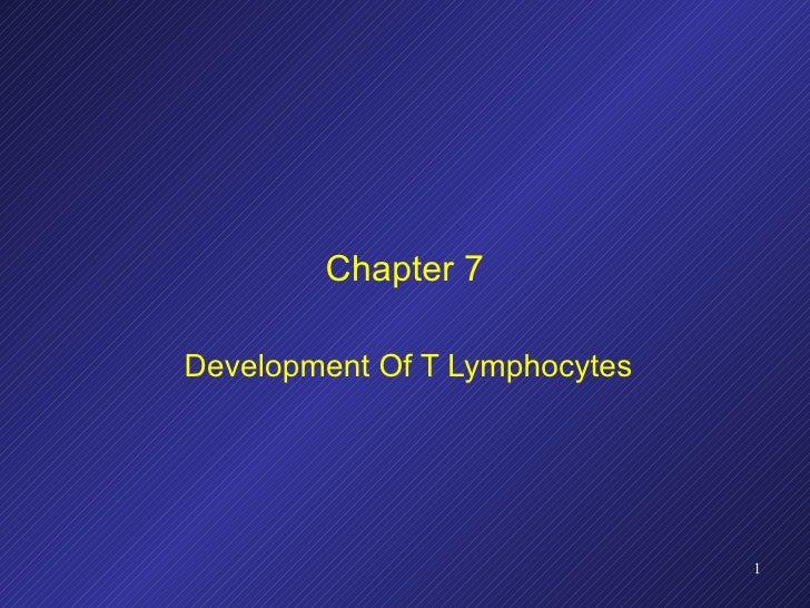 Chapter 7 Development Of T Lymphocytes