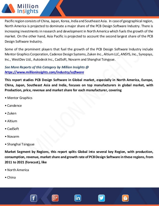 Pcb design software market research report 2021