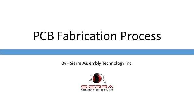By - Sierra Assembly Technology Inc. PCB Fabrication Process