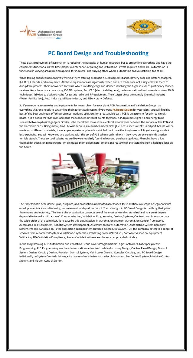PC Board Design and Troubleshooting These days employment of automation is reducing the necessity of human resource, but t...