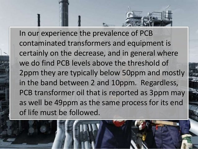 Pcb Oil Disposal And Transformer Decontamination