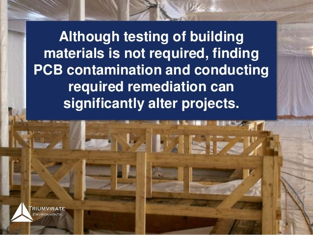 Pcb Sampling Building Materials : Pcbs to test or not
