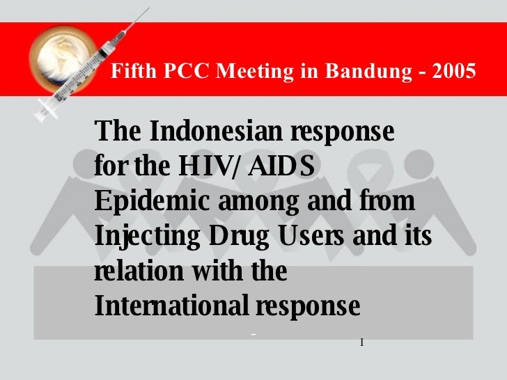 The Indonesian response for the HIV/AIDS Epidemic among and from Injecting Drug Users and its relation with the Internatio...