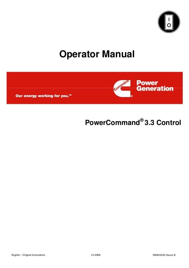 pcc 3 3 rh slideshare net Instruction Manual Cummins Cummins ISX Manual