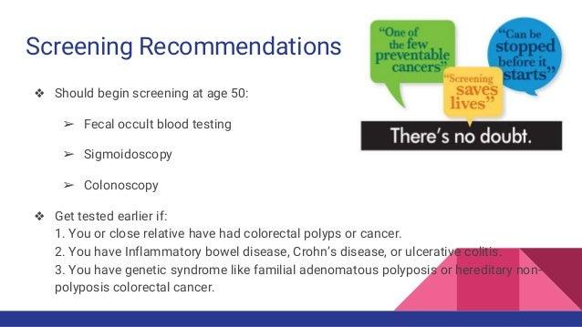 Colon Cancer Presentation