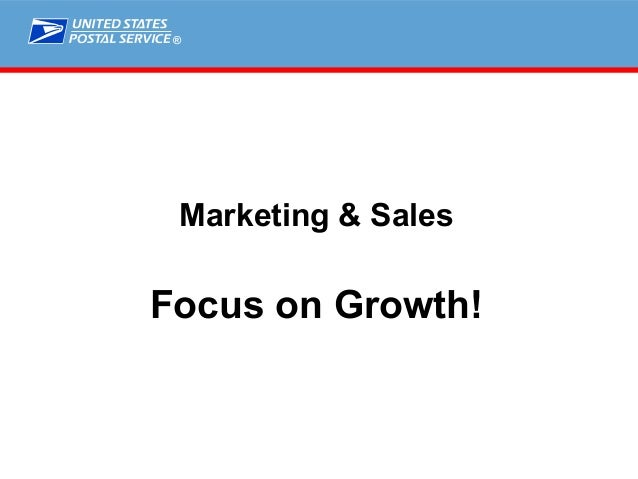 ® Marketing & Sales Focus on Growth!