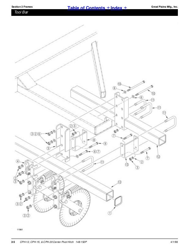 Great Plains Parts Manual Center Pivot Hitch Cph 12 Cph 15 Chp 20