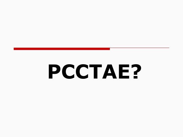 PCCTAE?