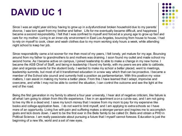 PCC Upward Bound University of California Personal Statement Workshop