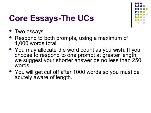 essay prompts for uc 2012 University of colorado - boulder undergraduate college application essays all of our sample college essays include the question prompt and the year written july 19, 2012 on that day.