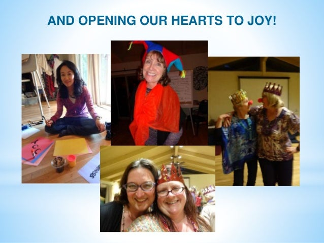 AND OPENING OUR HEARTS TO JOY!