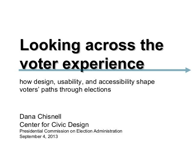 Looking across theLooking across the voter experiencevoter experience how design, usability, and accessibility shape voter...