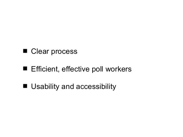 Looking across the voter experience Slide 2