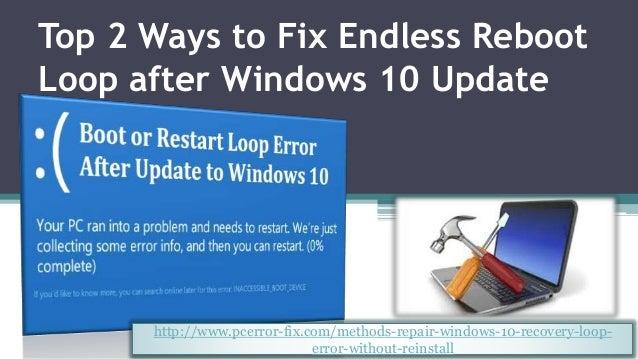 Windows 10 Recovery Boot Loop Windows 10 stuck in endless
