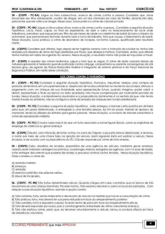 3bd2789f25 Pc exercicios (penal) aula 15