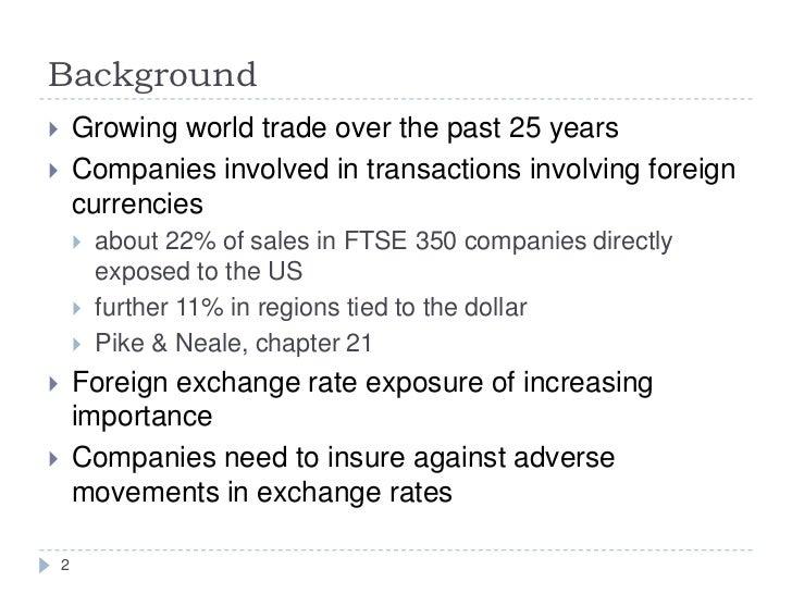 Pcf week 18 risk management forex 2 Slide 2
