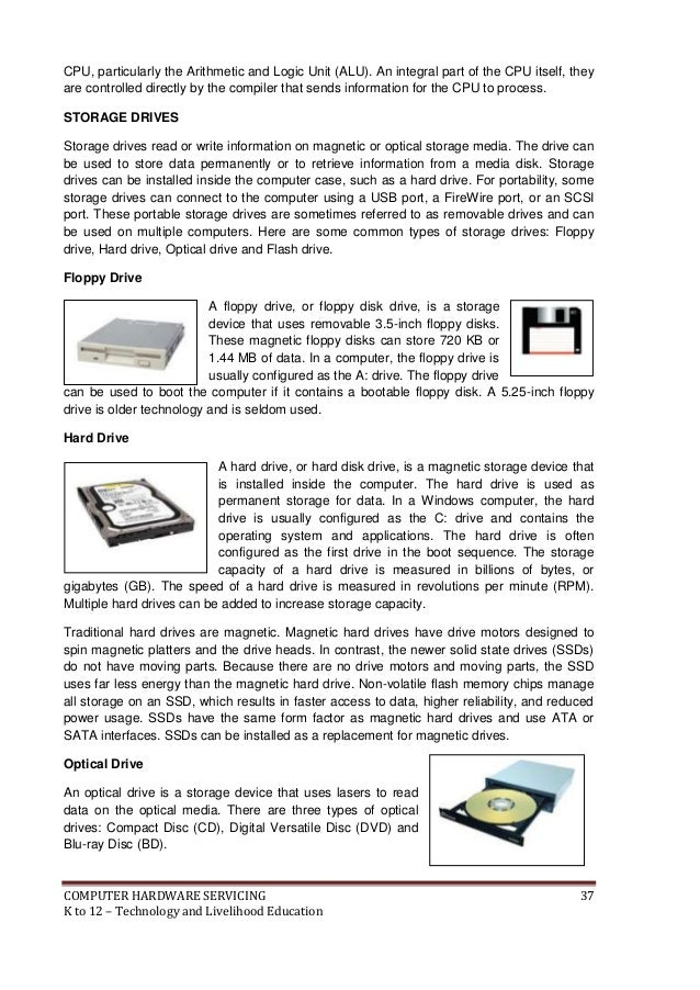 computer hardware servicing ncii module Free essay: computer hardware assignment the components of the system  unit name: jeffery  computer hardware servicing ncii module.