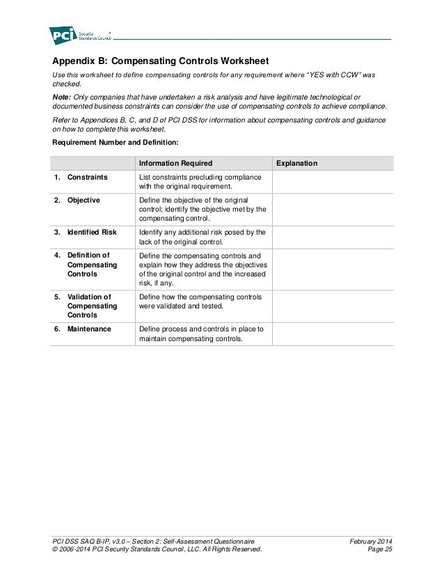 PCI Servces - PCI Compliance Questionnaire