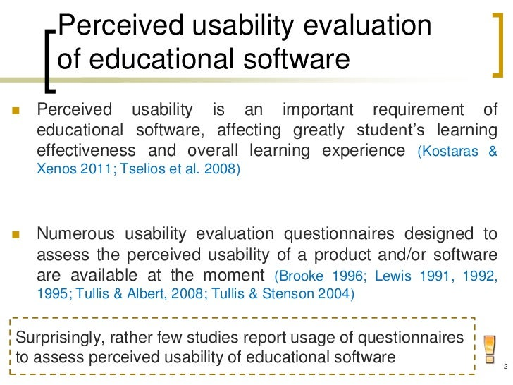 Perceived Usability Evaluation of Learning Management Systems: A First Step towards Standardization of the System Usability Scale in Greek Slide 2