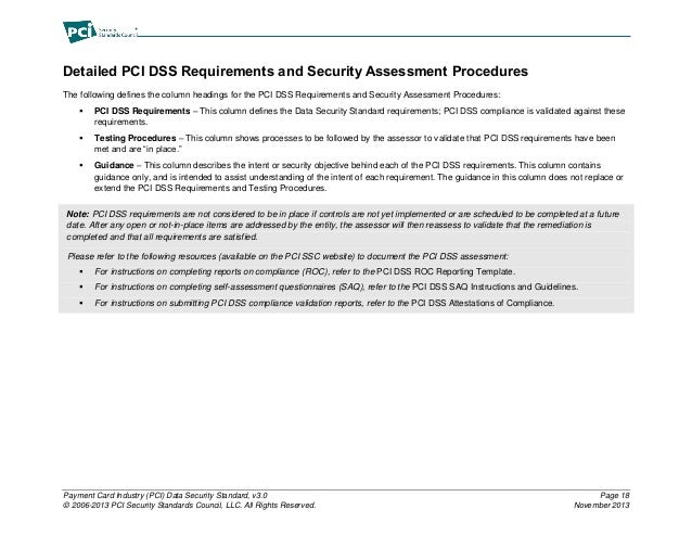 pci dss self assessment questionnaire instructions and guidelines