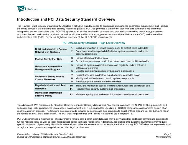 Requirements and Security Assessment Procedure for C7 To Be PCI DSS C…