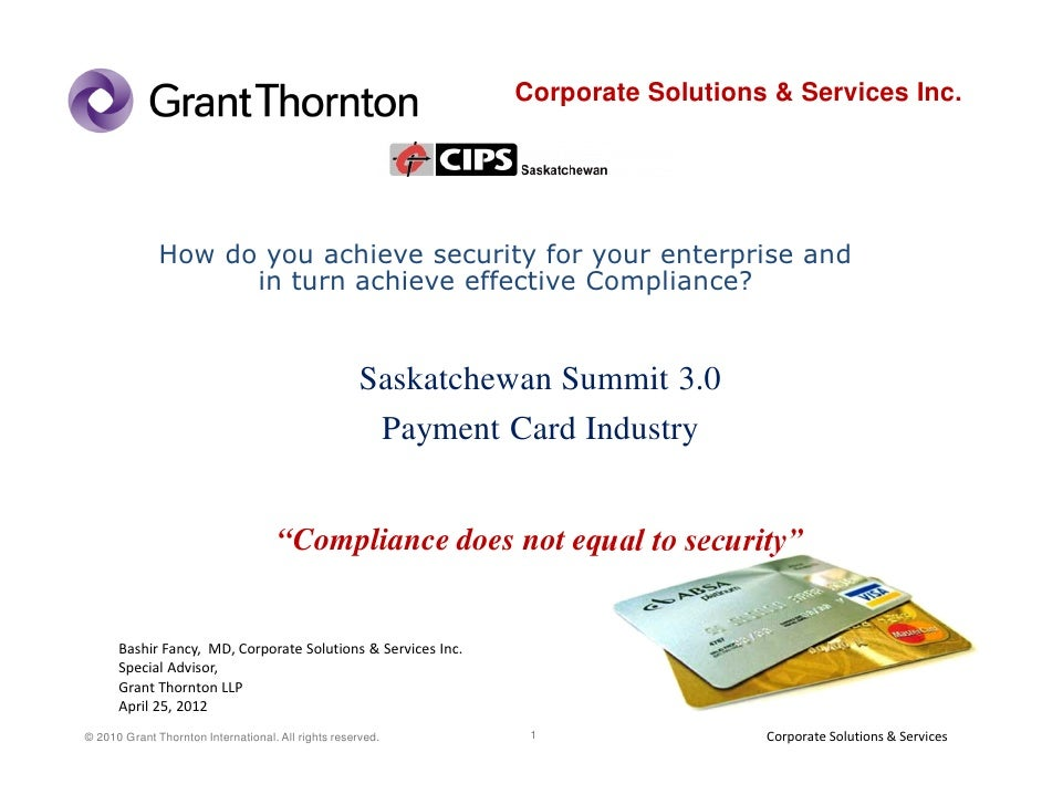 Corporate Solutions & Services Inc.              How do you achieve security for your enterprise and                    in...