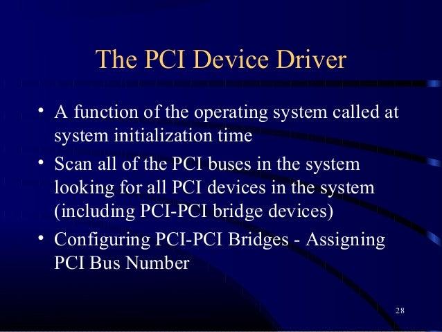 Pcie drivers basics
