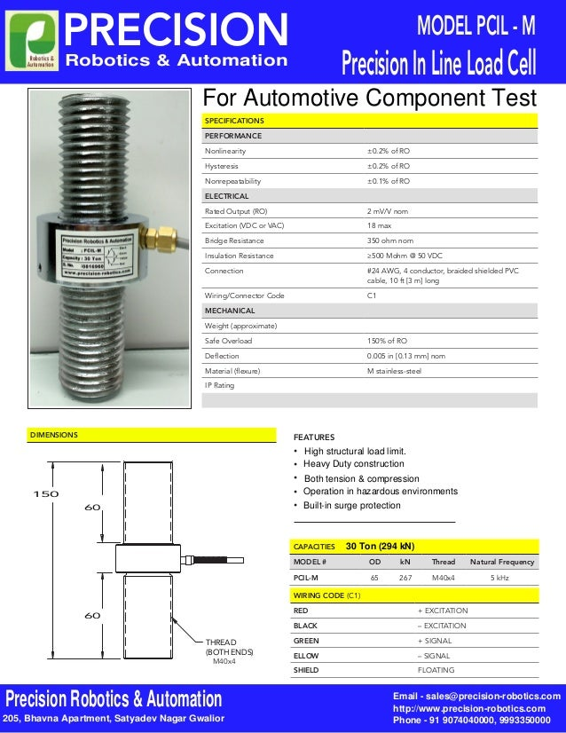 SPECIFICATIONS PERFORMANCE Nonlinearity ±0.2% of RO Hysteresis ±0.2% of RO Nonrepeatability ±0.1% of RO ELECTRICAL Rated O...