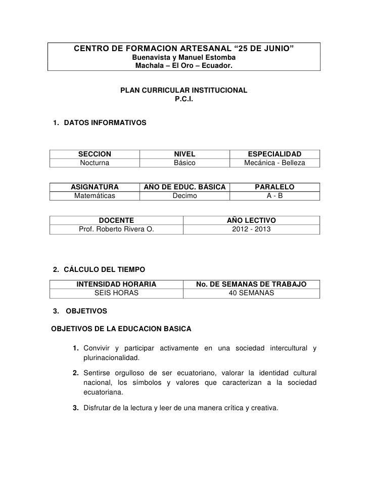 """CENTRO DE FORMACION ARTESANAL """"25 DE JUNIO""""                       Buenavista y Manuel Estomba                        Macha..."""