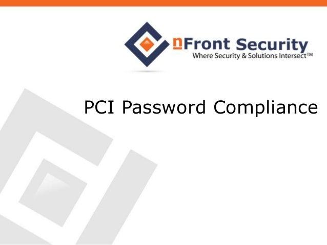 PCI Password Compliance