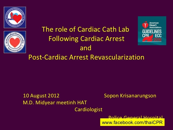 The role of Cardiac Cath Lab        Following Cardiac Arrest                   and  Post-Cardiac Arrest Revascularization1...
