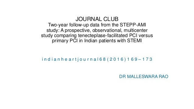 JOURNAL CLUB Two-year follow-up data from the STEPP-AMI study: A prospective, observational, multicenter study comparing t...
