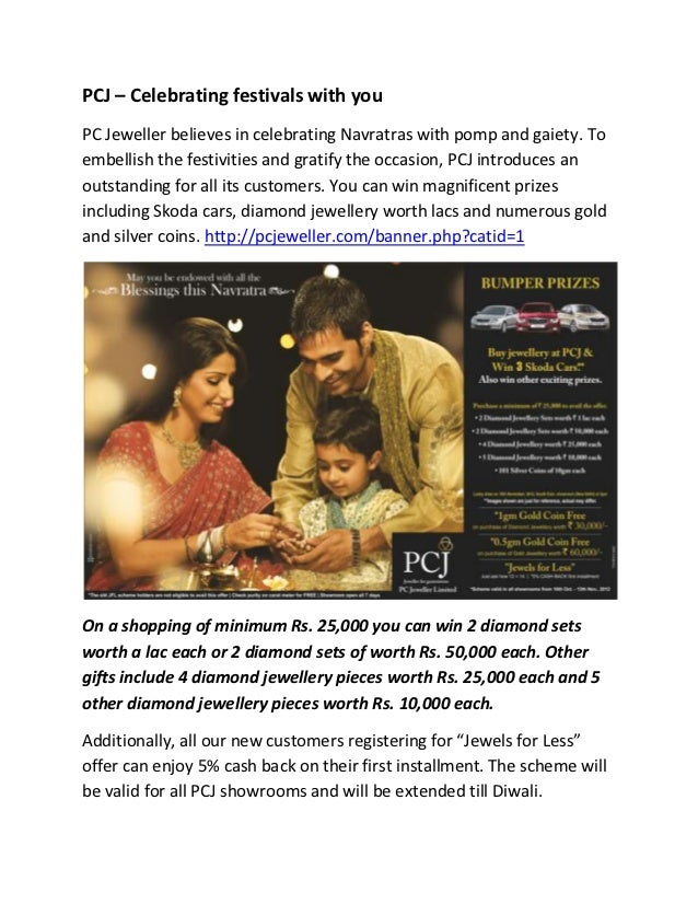 PCJ – Celebrating festivals with youPC Jeweller believes in celebrating Navratras with pomp and gaiety. Toembellish the fe...