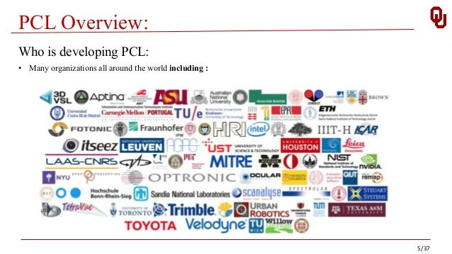 PCL Overview: 5/37 Who is developing PCL: • Many organizations all around the world including :