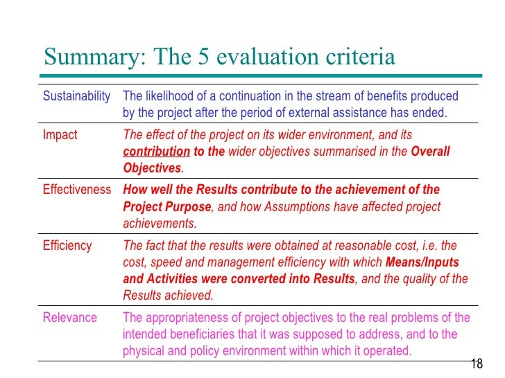 PCM Project Cycle Management Training on Evaluation – Project Evaluation