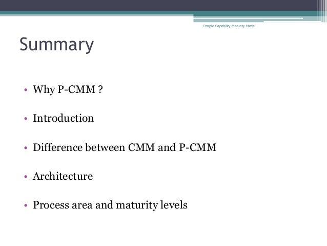 People capability maturity model levels